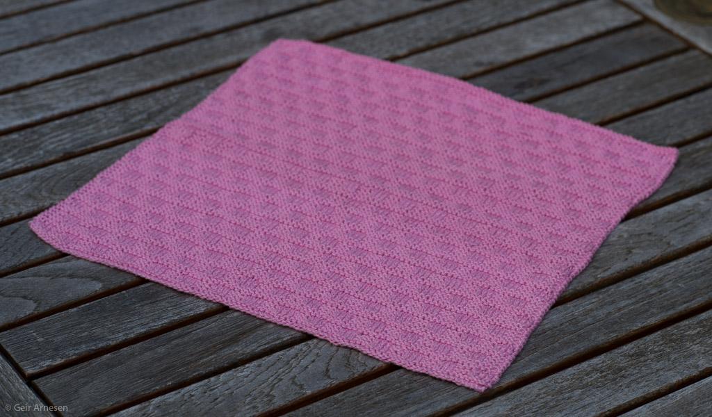 Strikket rosa klut, oppskrift nr. 3