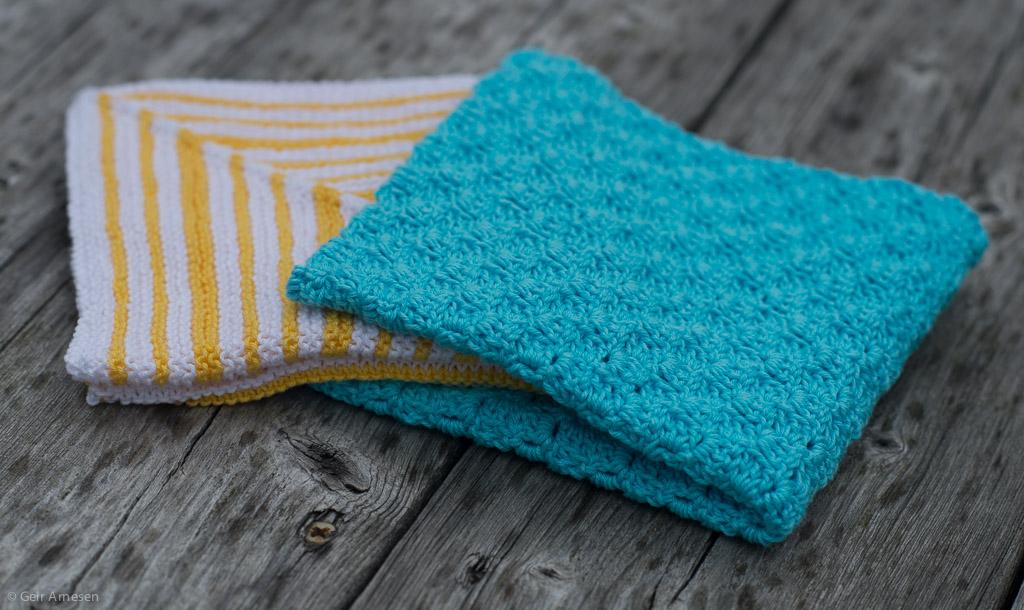 Sniktitt på kluter nr. 7 og i morgen er det igjen en ny strikke- og hekle oppskrift til klutalongen!