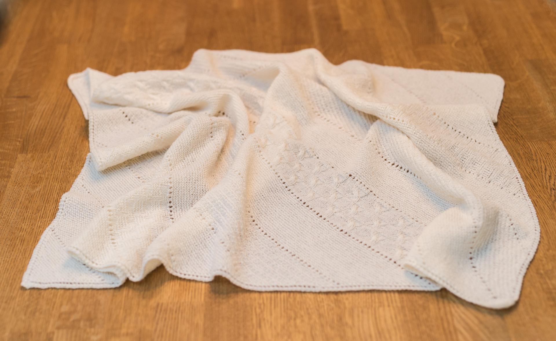 Samstrikk/knit-a-long babyteppe uke 5
