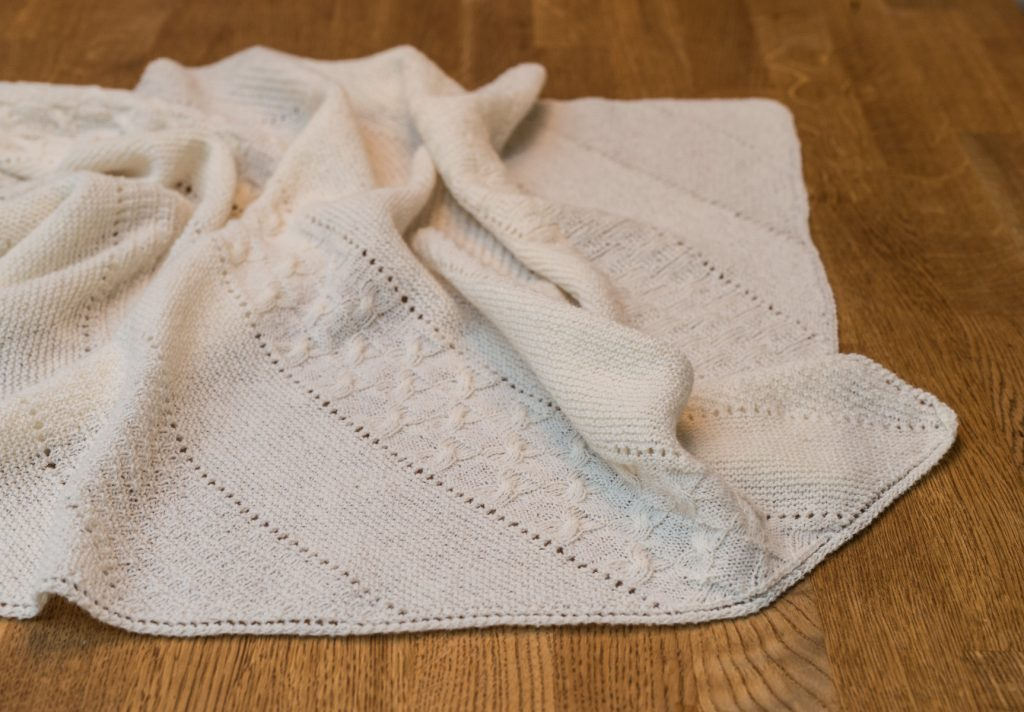 Samstrikk/knit-a-long babyteppe uke 1