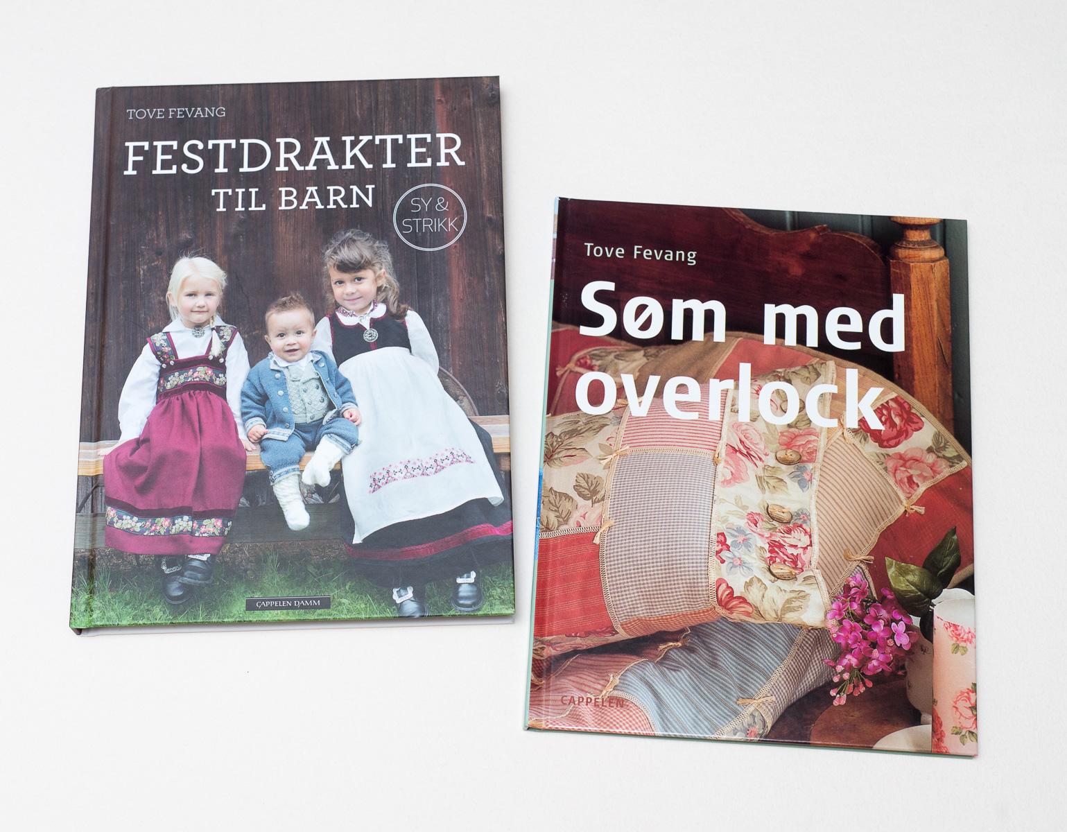 Førjulens boktilbud «Festdrakter til barn» og «Søm med overlock»