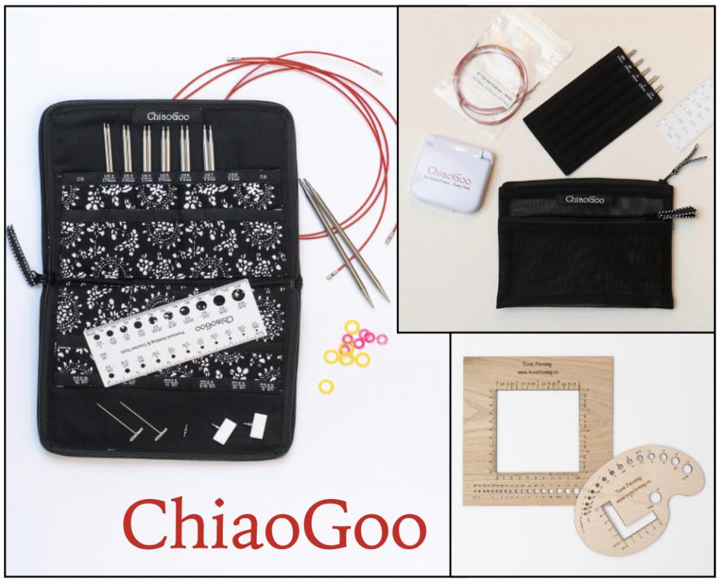 ChiaoGoo strikkepinner – SUPERTILBUD fredag 5.2. – tirsdag 9.2, få med strikkefasthetsmål