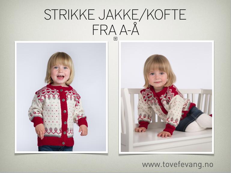 Nettforedrag «Strikke jakke/kofte fra A-Å» onsdag 14.4.2021